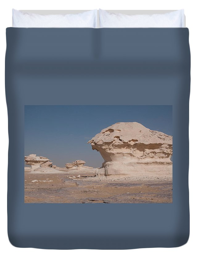 Egypt Desert Duvet Cover featuring the digital art White Desert by Carol Ailles
