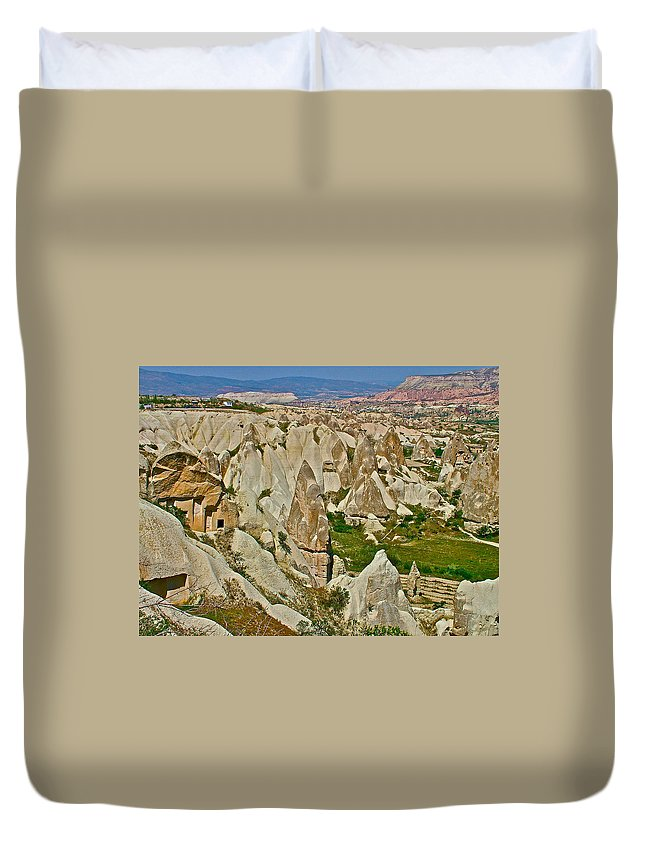 Who Lives Here In Cappadocia Duvet Cover featuring the photograph Who Lives Here In Cappadocia-turkey by Ruth Hager