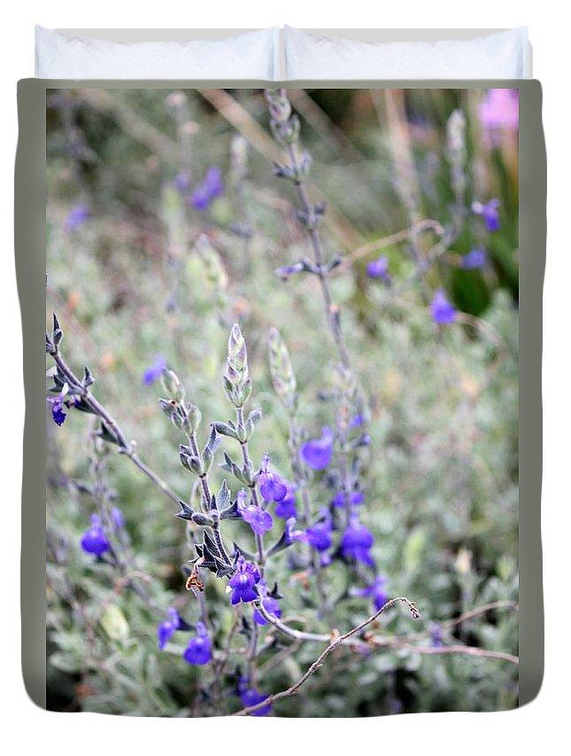 Wildflower Duvet Cover featuring the photograph Wildflower by Henrik Lehnerer