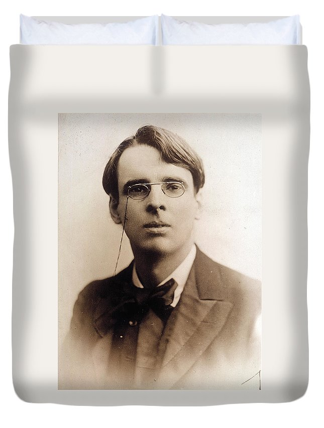 1890 Duvet Cover featuring the photograph William Butler Yeats (1865-1939) by Granger