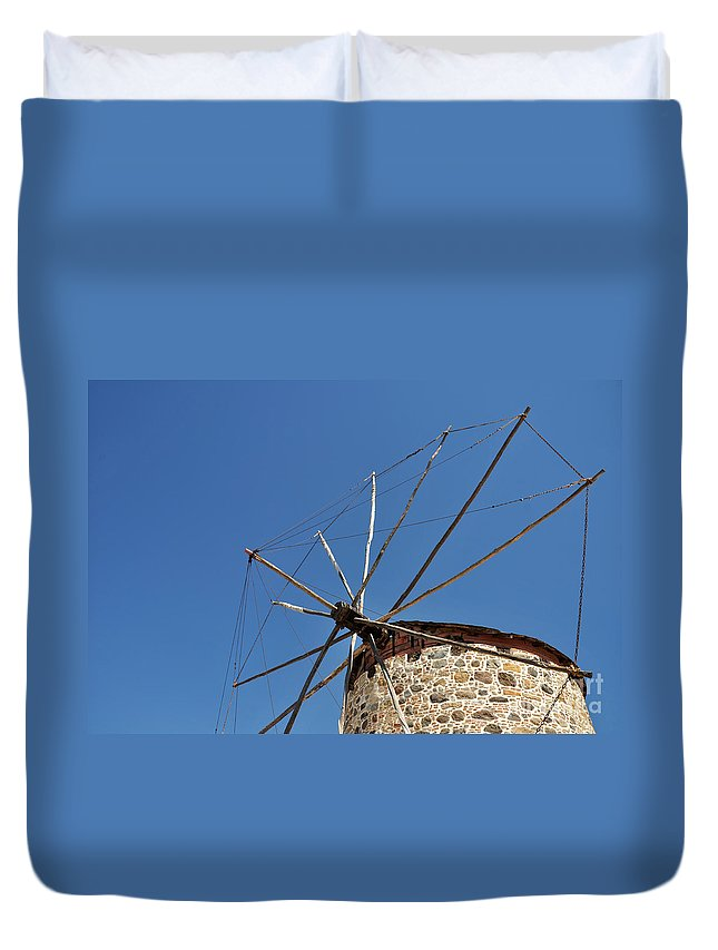 Windmill Duvet Cover featuring the photograph Windmill by Luis Alvarenga
