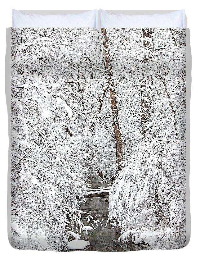 Winter Duvet Cover featuring the photograph Winter Wonderland by Benanne Stiens