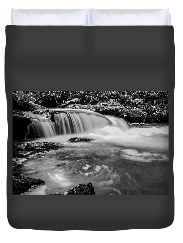 Autumn Duvet Cover featuring the photograph Yellow Creek Falls Great Smoky Mountains by Alex Grichenko