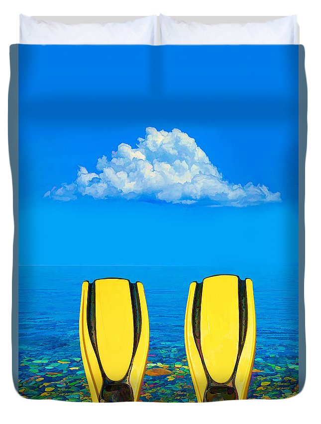 Active Duvet Cover featuring the photograph Yellow Fins by Roy Pedersen
