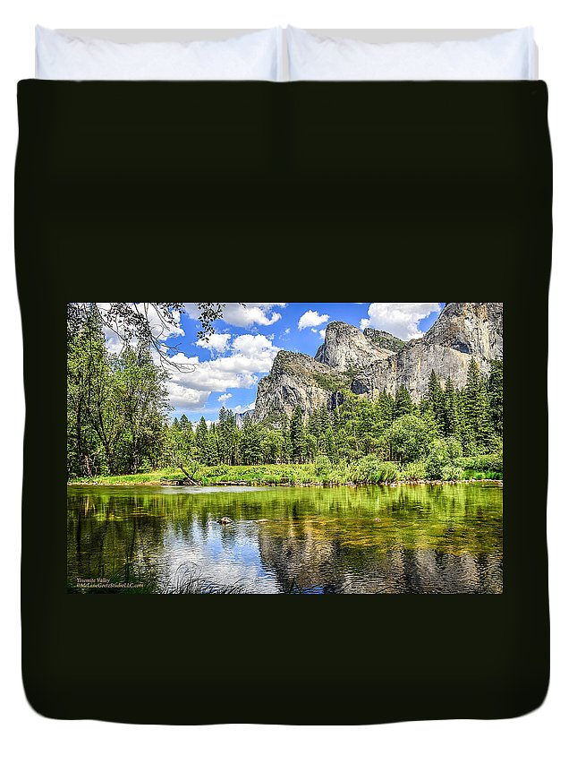 Yosemite Duvet Cover featuring the photograph Yosemite Merced River Rafting by LeeAnn McLaneGoetz McLaneGoetzStudioLLCcom