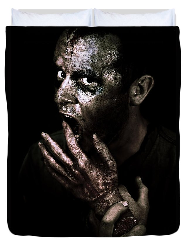 Apocalypse Duvet Cover featuring the photograph Zombie Apocalypse by Jorgo Photography - Wall Art Gallery
