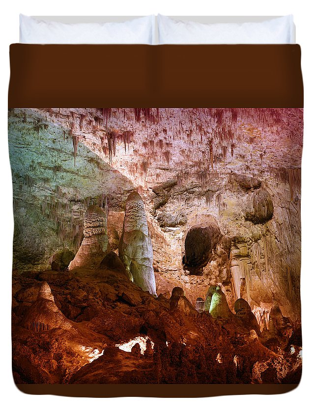 Carlsbad Duvet Cover featuring the photograph Carlsbad Cavern by Alexey Stiop