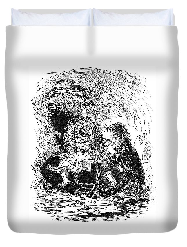 1842 Duvet Cover featuring the painting Daniel Webster (1782-1852) by Granger