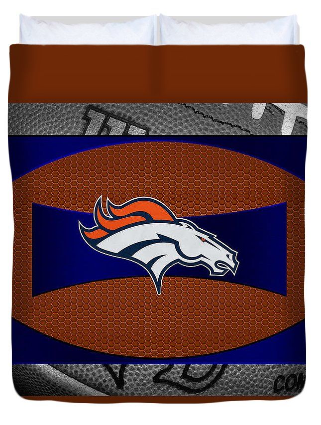 Broncos Duvet Cover featuring the photograph Denver Broncos by Joe Hamilton