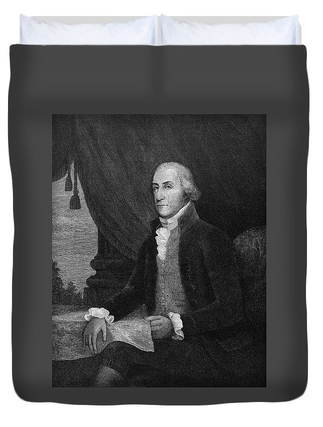 1790 Duvet Cover featuring the painting George Washington (1732-1799) by Granger