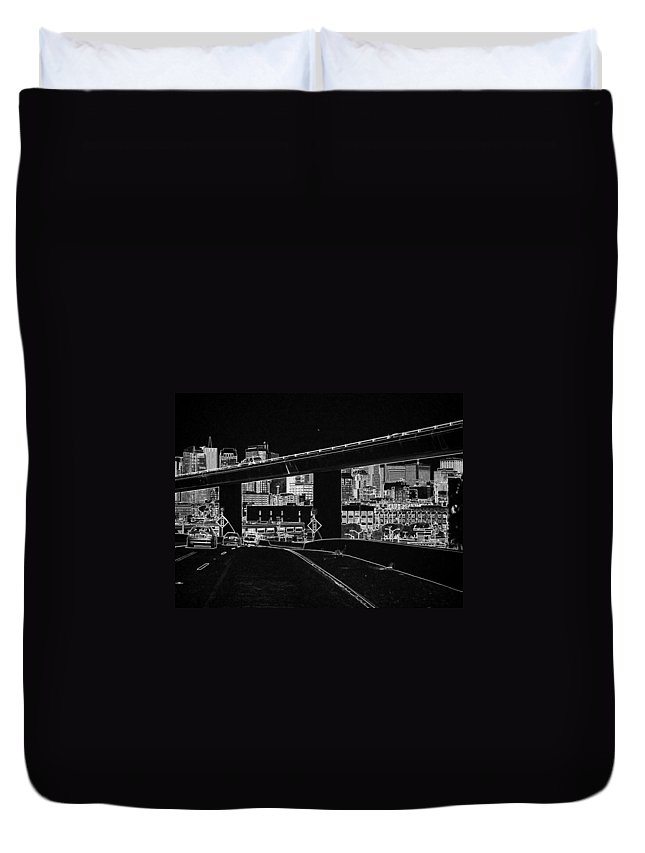 Cars Duvet Cover featuring the photograph Heading Into The Busy Part Of San Francisco by Ashish Agarwal