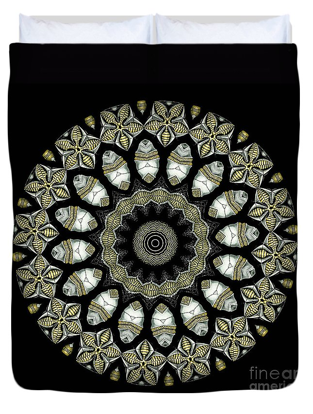 Ernst Haeckel Duvet Cover featuring the photograph Kaleidoscope Ernst Haeckl Sea Life Series by Amy Cicconi