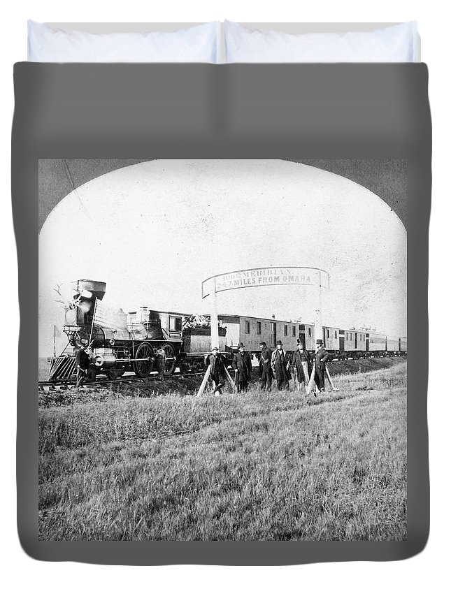 100th Duvet Cover featuring the photograph 100th Meridian, 1866 by Granger