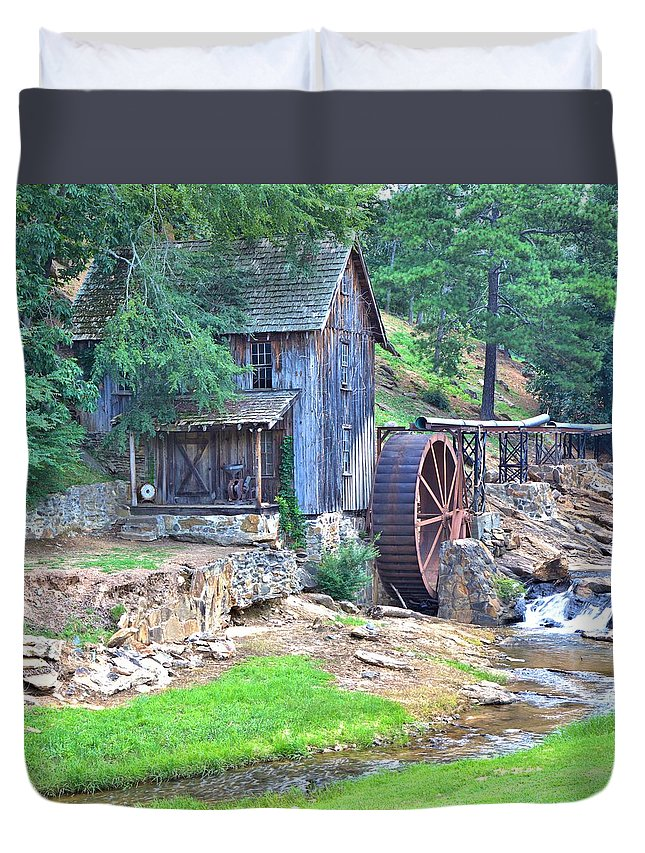 10385 Duvet Cover featuring the photograph Sixes Mill On Dukes Creek - Square by Gordon Elwell