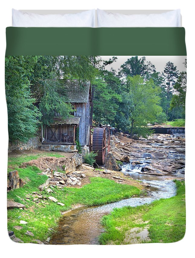 10386 Duvet Cover featuring the photograph Sixes Mill - Dukes Creek - Square by Gordon Elwell