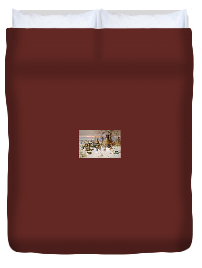 Arthur Rimbaud Duvet Cover featuring the painting Arthur Rimbaud by MotionAge Designs
