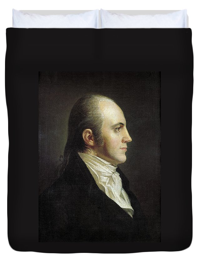19th Century Duvet Cover featuring the painting Aaron Burr (1756-1836) by Granger