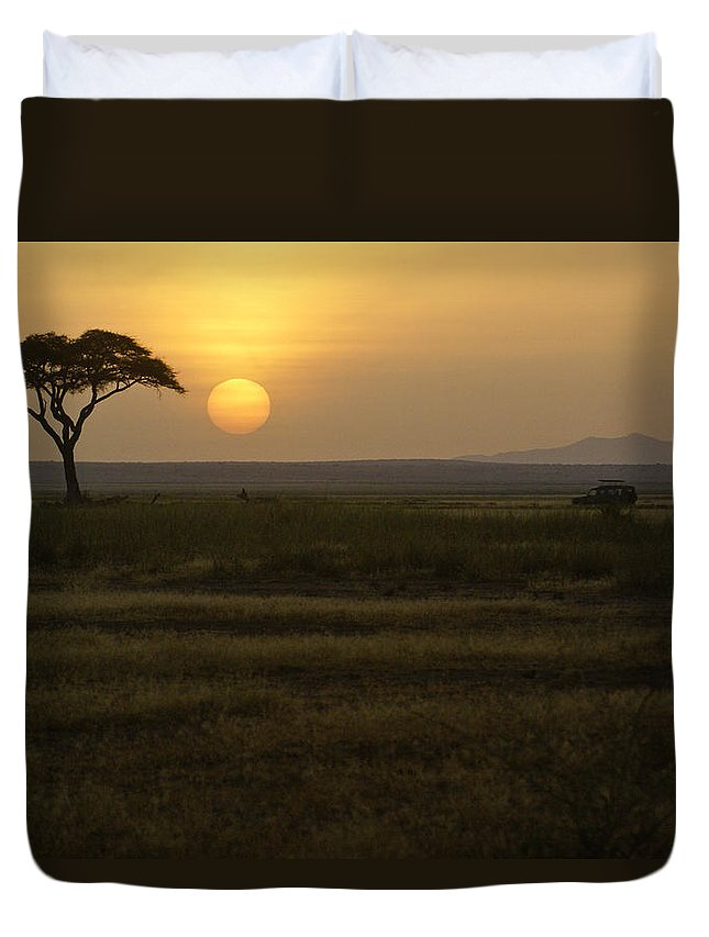 Africa Duvet Cover featuring the photograph African Sunrise by Michele Burgess