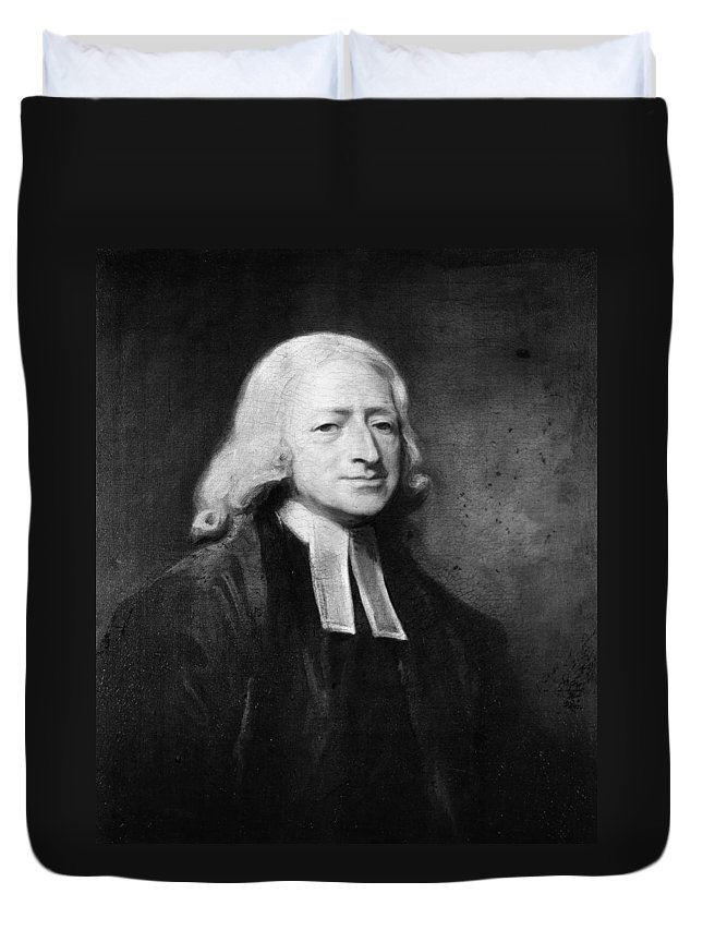 1789 Duvet Cover featuring the painting John Wesley (1703-1791) by Granger