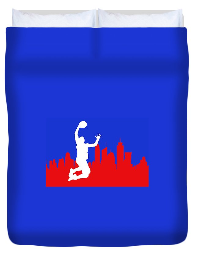 Blake Griffin Duvet Cover featuring the photograph Los Angeles Clippers by Joe Hamilton