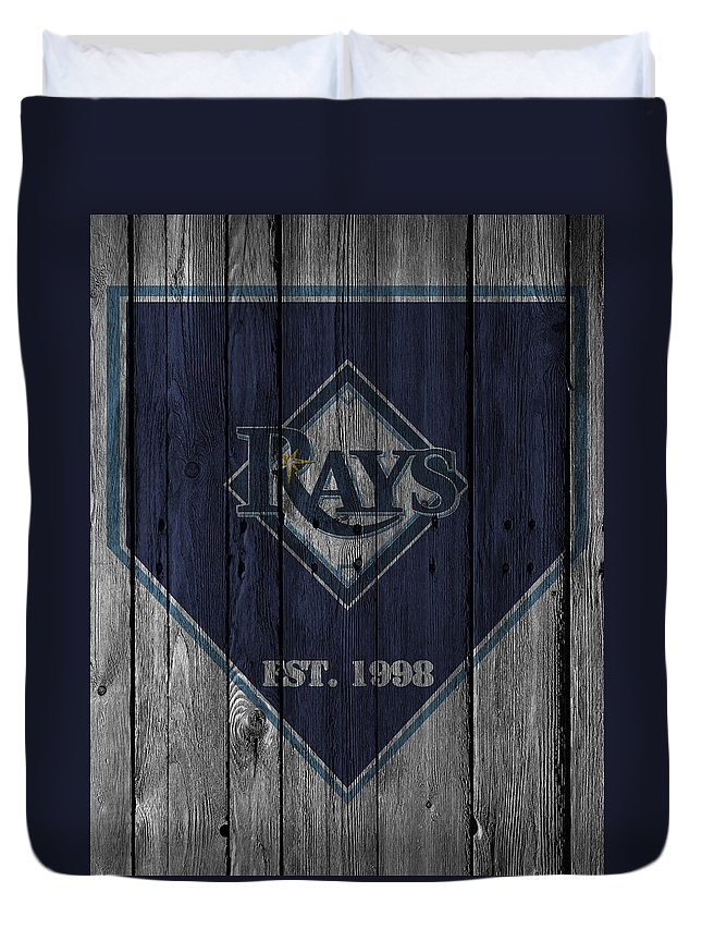 Rays Duvet Cover featuring the photograph Tampa Bay Rays by Joe Hamilton