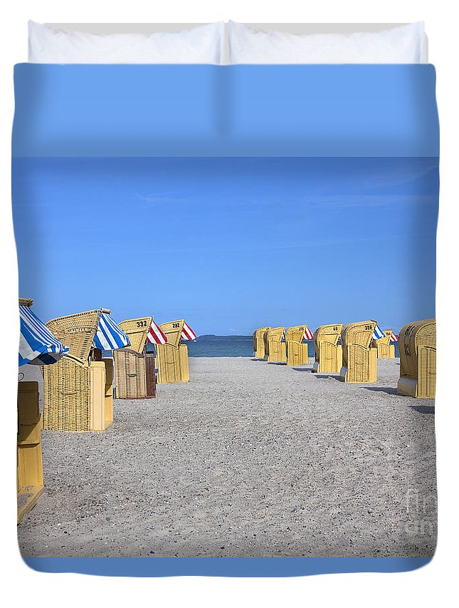 Travem�nde Duvet Cover featuring the photograph 110506p020 by Arterra Picture Library