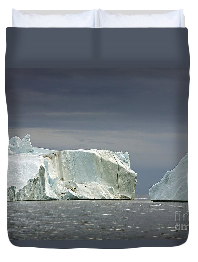 Iceberg Duvet Cover featuring the photograph 110506p052 by Arterra Picture Library