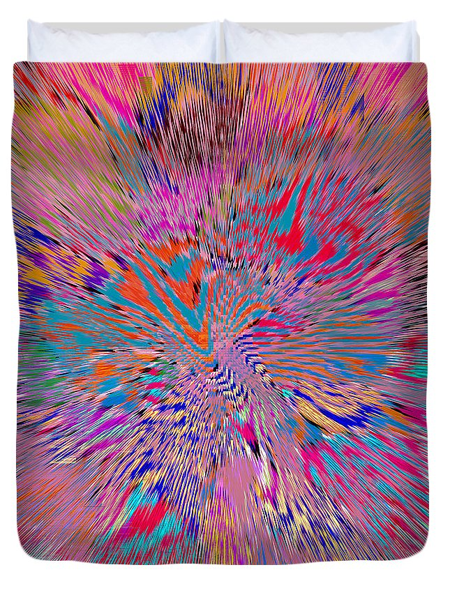 Abstract Duvet Cover featuring the digital art 1106 Abstract Thought by Chowdary V Arikatla