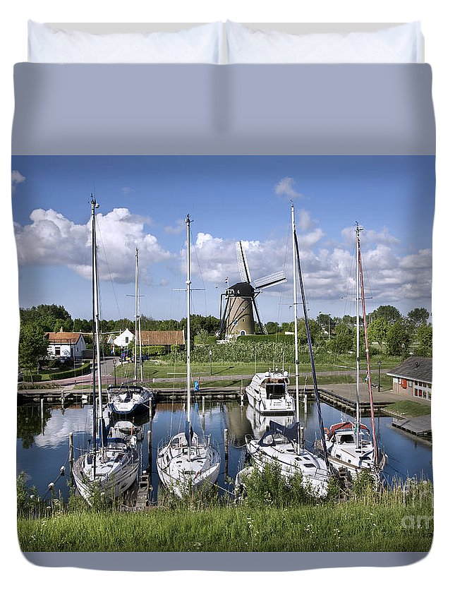 Brouwershaven Duvet Cover featuring the photograph 110613p055 by Arterra Picture Library