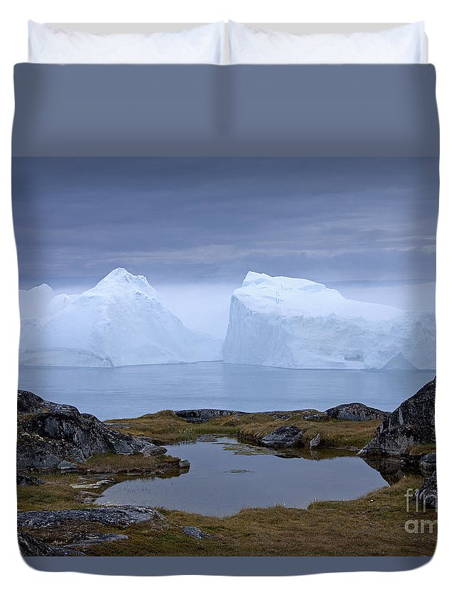 Iceberg Duvet Cover featuring the photograph 110613p170 by Arterra Picture Library