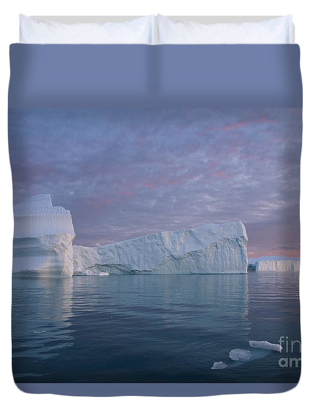 Iceberg Duvet Cover featuring the photograph 110613p177 by Arterra Picture Library