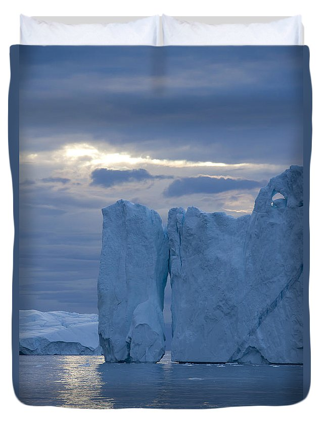 Iceberg Duvet Cover featuring the photograph 110613p179 by Arterra Picture Library