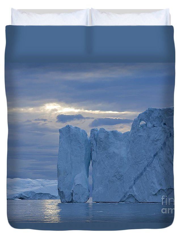 Iceberg Duvet Cover featuring the photograph 110613p180 by Arterra Picture Library
