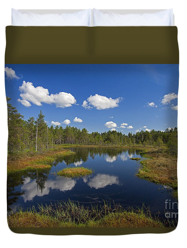 Moorland Duvet Cover featuring the photograph 110613p187 by Arterra Picture Library