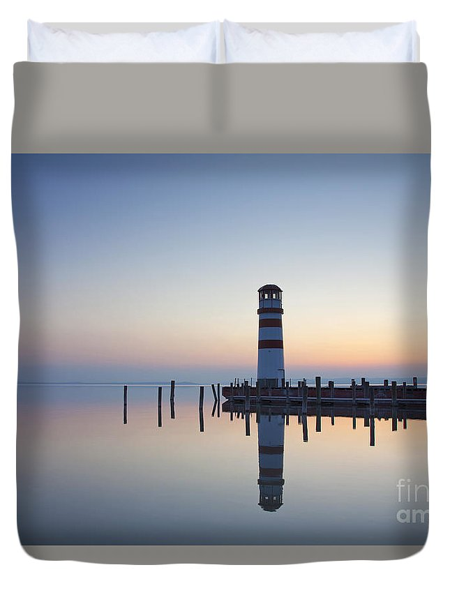 Lighthouse Duvet Cover featuring the photograph 110613p194 by Arterra Picture Library