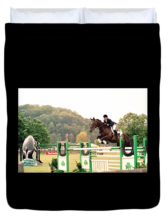 Horse Duvet Cover featuring the photograph 111708-1 by Mike Davis