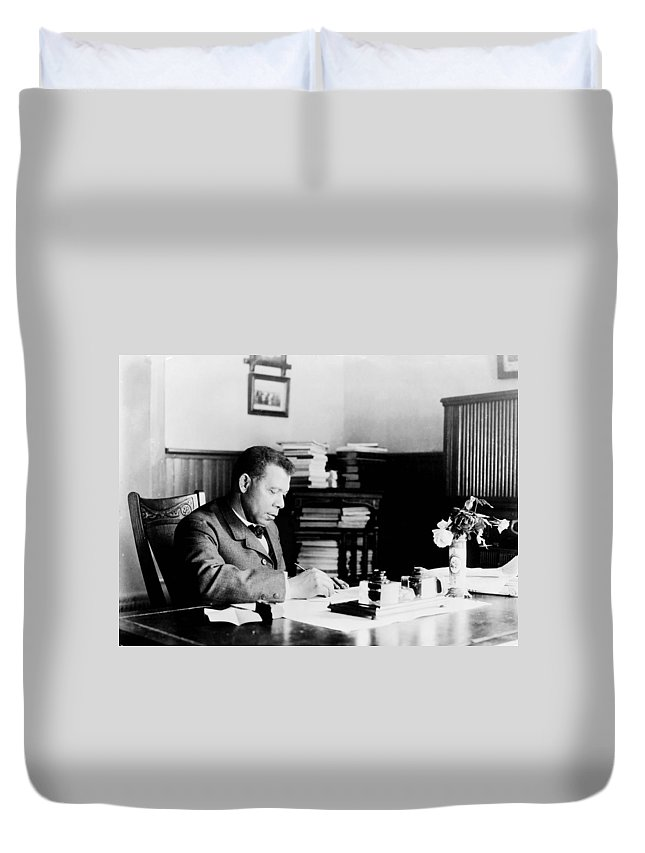 1890 Duvet Cover featuring the photograph Booker T by Granger