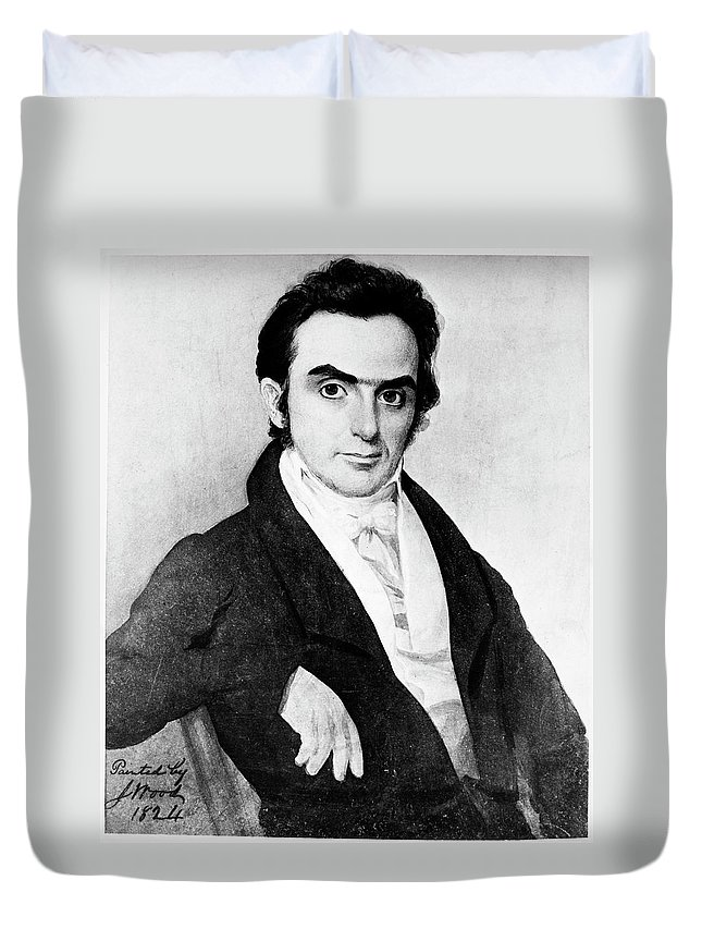 1824 Duvet Cover featuring the painting Daniel Webster (1782-1852) by Granger