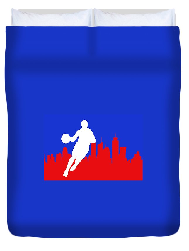 Chris Paul Duvet Cover featuring the photograph Los Angeles Clippers by Joe Hamilton