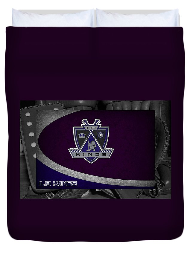 Kings Duvet Cover featuring the photograph Los Angeles Kings by Joe Hamilton