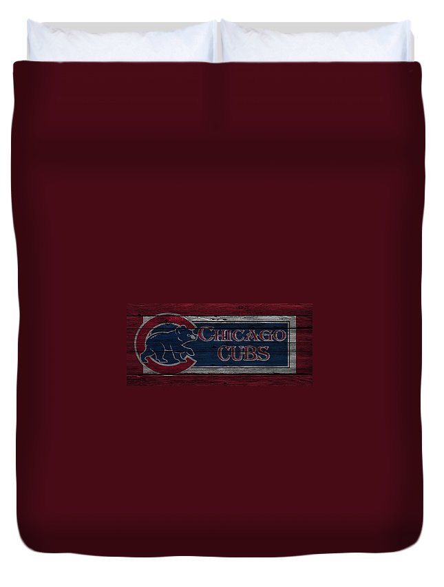 Cubs Duvet Cover featuring the photograph Chicago Cubs by Joe Hamilton