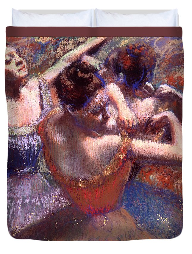 Painting Duvet Cover featuring the painting Dancers by Mountain Dreams