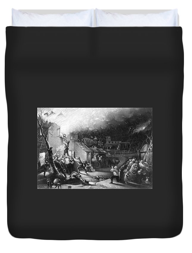 1709 Duvet Cover featuring the painting John Wesley (1703-1791) by Granger