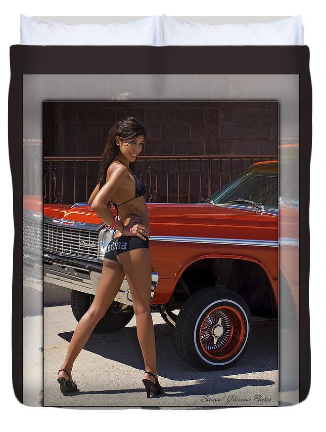 Lowrider Duvet Cover featuring the photograph Lowrider by Walter Herrit