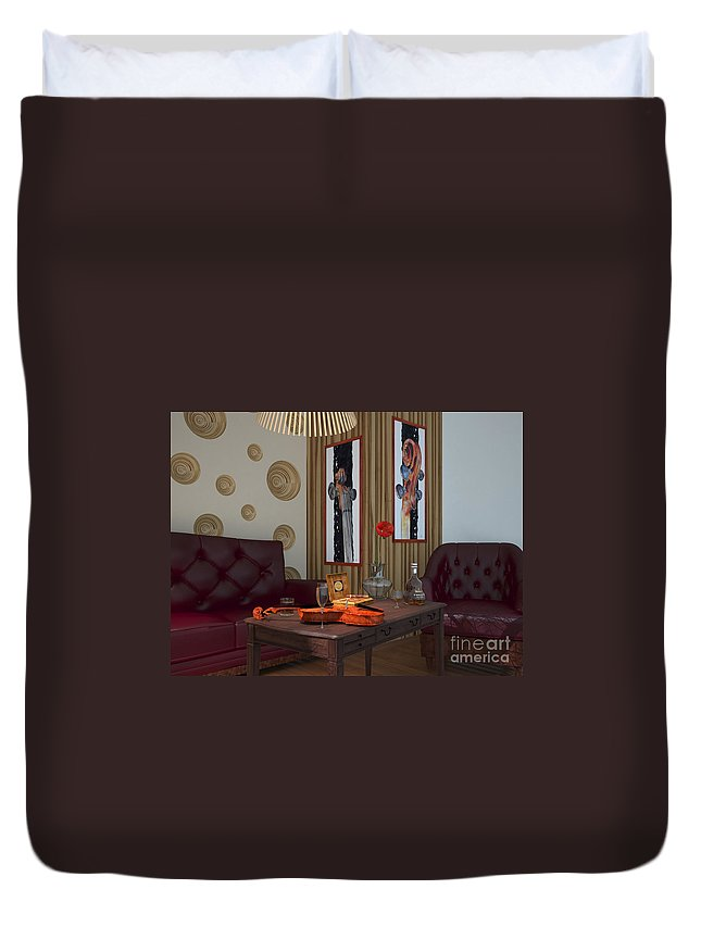 Yakubovich Duvet Cover featuring the painting My Art In The Interior Decoration - Elena Yakubovich by Elena Yakubovich