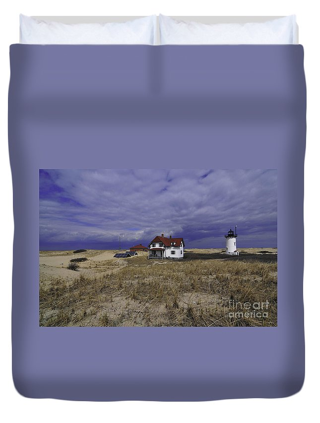 Race Point Light Duvet Cover featuring the photograph Race Point Light 8 by Catherine Reusch Daley