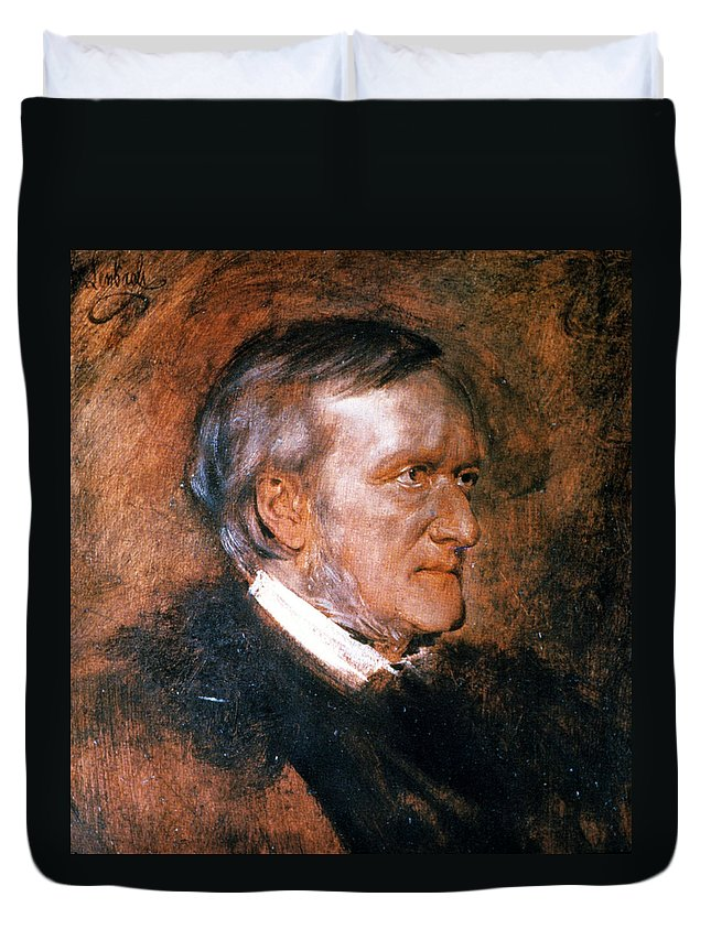 1882 Duvet Cover featuring the painting Richard Wagner (1813-1883) by Granger