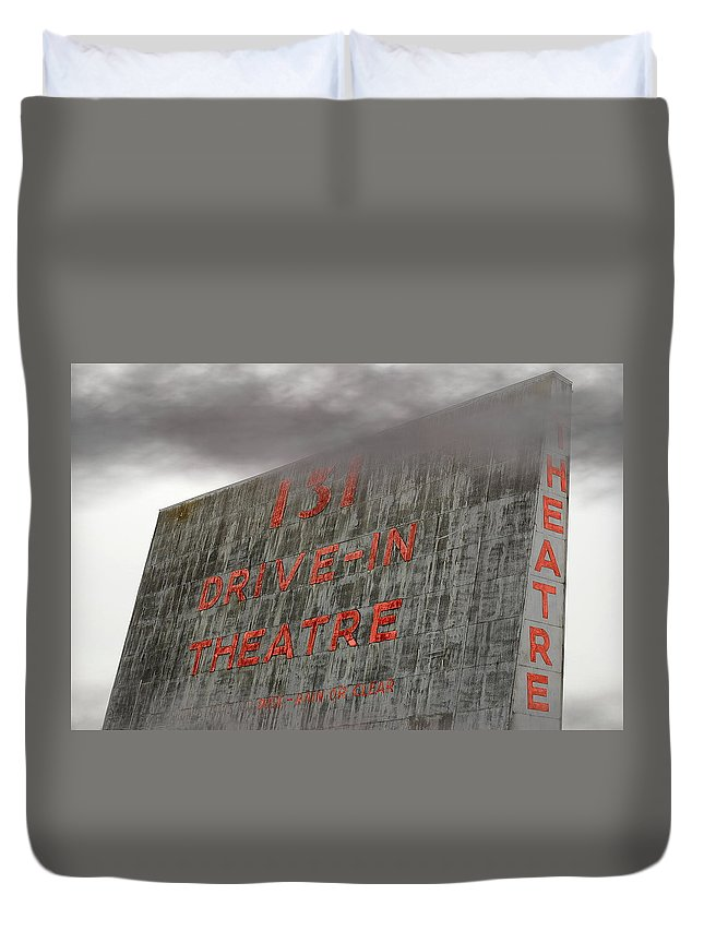 Movies Duvet Cover featuring the photograph 131 In The Clouds by Randy Pollard