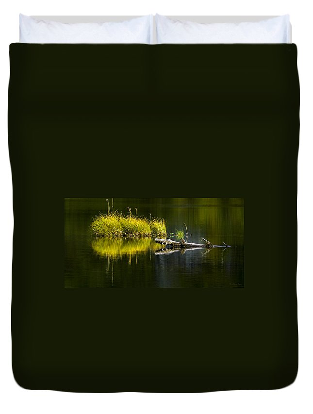 Priest Lake Duvet Cover featuring the photograph 131005b-029 Forest Pond 2 by Albert Seger