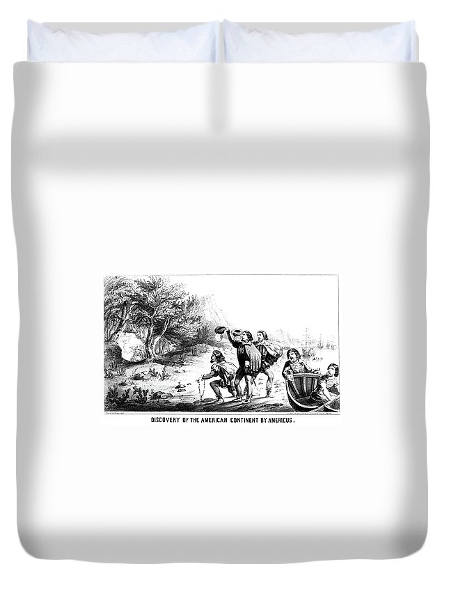 1499 Duvet Cover featuring the painting Amerigo Vespucci (1454-1512) by Granger